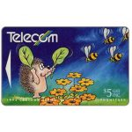 The Phonecard Shop: Bogor cartoons, Hedgehog & Bees, $5