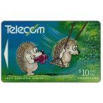 The Phonecard Shop: New Zealand, Bogor cartoons, Hedgehog & Swing, $10