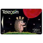 The Phonecard Shop: Bogor cartoons,  Hedgehog & Baloon, $20