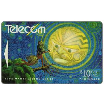 The Phonecard Shop: New Zealand, Maori Legends, Rona Abducted by Moon, $10