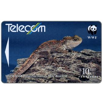 The Phonecard Shop: WWF, Tuatara, $10