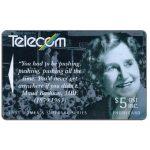 The Phonecard Shop: New Zealand, Women's Suffrage, Maud Basham, $5