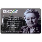 The Phonecard Shop: New Zealand, Women's Suffrage, Mabel Howard, $5