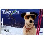 The Phonecard Shop: New Zealand, Spot the Dog on the Ski Slopes, $5