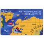 The Phonecard Shop: New Zealand, Withbread Round The World Race, puzzle 1/4, $5