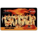 The Phonecard Shop: Young Guns cricket team, DB Draught Beer, $5