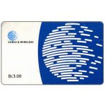 The Phonecard Shop: Panama, Blue globe, B/.3.00