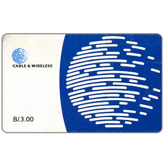 Phonecard for sale: Blue globe, B/.3.00