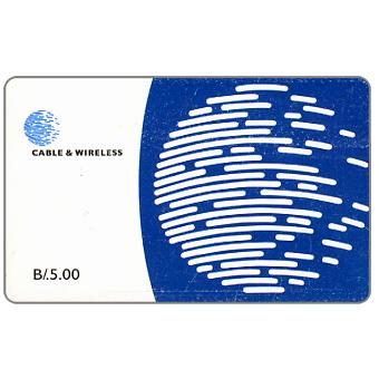Phonecard for sale: Blue globe, B/.5.00