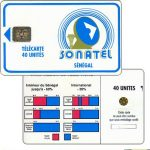 The Phonecard Shop: Senegal, Blue frame and logo, chip SC-4 Ø6, 40 units