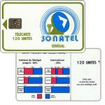 The Phonecard Shop: Senegal, Green frame and logo, chip SC-4, 120 units