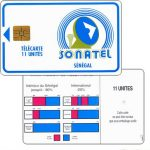 The Phonecard Shop: Senegal, Green frame and logo, chip SC-5, 120 units