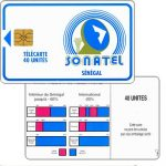The Phonecard Shop: Senegal, Blue frame and logo, chip GEM1, 40 units