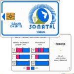 The Phonecard Shop: Senegal, Blue frame and logo, chip GEM1, 120 units