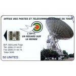 Phonecard for sale: Earth Station, reverse B, red code at bottom, 50 units
