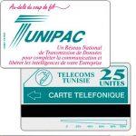 "The Phonecard Shop: Tunisia, Tunisie Telecom - Tunipac, ""Telefonique"" (error) on back, 25 units"