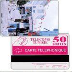 """The Phonecard Shop: Tunisia, Tunisie Telecom - Sidi Bou Said, """"Telephonique"""" on back, 50 units"""