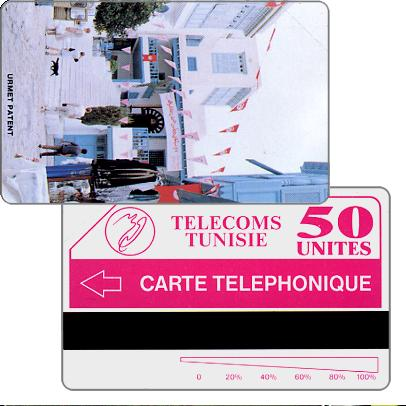 "Tunisie Telecom - Sidi Bou Said, ""Telephonique"" on back, 50 units"