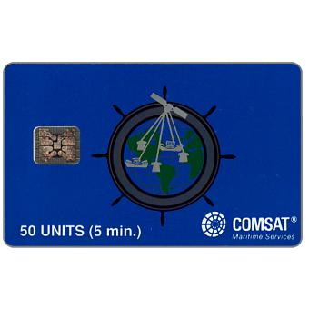 Phonecard for sale: Comsat - 50 units, grey helm, Schlumberger 2020, chip SC-4