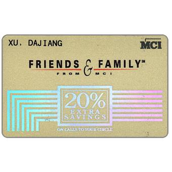 Phonecard for sale: MCI - Friends & Family, telephone credit card