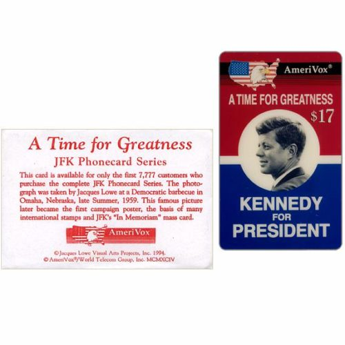 Amerivox - John F. 'Kennedy For President' Campaign Poster, $17, in envelope