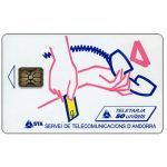 The Phonecard Shop: Andorra, Logotype Place of Sale, 50 units