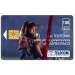 The Phonecard Shop: Telecom Argentina - Girl at phone, 100 pulsos