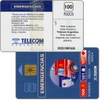 The Phonecard Shop: Argentina, Telecom Argentina - Emergencies, without price on back, 100 pulsos