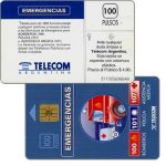 The Phonecard Shop: Argentina, Telecom Argentina - Emergencies, with price on back, 100 pulsos