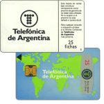 The Phonecard Shop: Argentina, Telefonica de Argentina - World map 4th series, 25 fichas