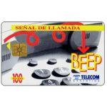 The Phonecard Shop: Argentina, Telecom Argentina - Señal De Llamada Beep, 100 pulsos