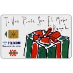 The Phonecard Shop: Telecom Argentina - Fiestas, Christmas gift, 100 pulsos