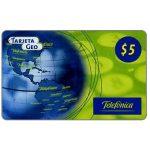 The Phonecard Shop: Argentina, Telefonica - Tarjeta Geo, $5