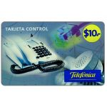 The Phonecard Shop: Telefonica - Tarjeta Control, $10, value in big digits