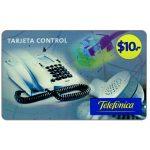 The Phonecard Shop: Argentina, Telefonica - Tarjeta Control, $10, value in big digits