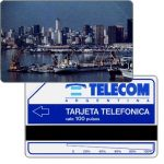 The Phonecard Shop: Telecom Argentina - First issue, Port of Buenos Aires, long units scale (56 mm), 100 pulsos