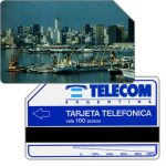 The Phonecard Shop: Argentina, Telecom Argentina - Port of Buenos Aires, short units scale (51 mm), 100 pulsos