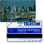 The Phonecard Shop: Telecom Argentina - Port of Buenos Aires, short units scale (51 mm), 100 pulsos