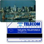 The Phonecard Shop: Argentina, Telecom Argentina - Port of Buenos Aires, short units scale (51 mm), Complimentary 100 pulsos
