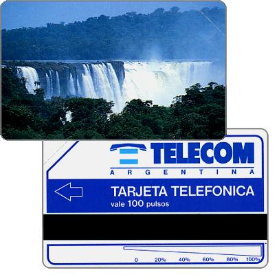 The Phonecard Shop: Telecom Argentina - Iguazu falls, 100 pulsos