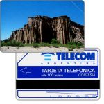 The Phonecard Shop: Telecom Argentina - Rocky ledge, Complimentary 100 pulsos