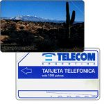 The Phonecard Shop: Telecom Argentina - Jujuy Cactus, printing proof - missing magstripe, 100 pulsos