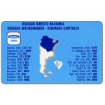 The Phonecard Shop: Telecom Argentina - Argentina code map, 200 pulsos
