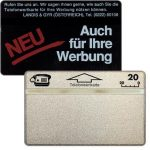 The Phonecard Shop: Sticker-Grundkarten, 010K, 20 units