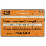 The Phonecard Shop: Austria, PSK Stammkunden Vorzugskarte 3, 011E, 50 units