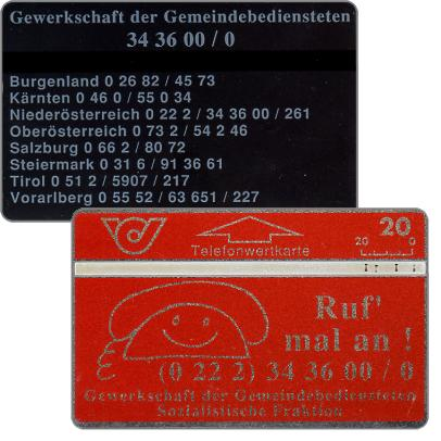 Ruf' mal an!, back: 'Burgenland…', 20 units