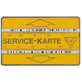 Service card, notched, 003A, 240 units