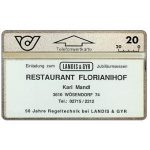 The Phonecard Shop: Restaurant Florianihof, 20 units