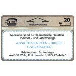 The Phonecard Shop: Austria, Briefmarken-Schinninger, 109K, 20 units