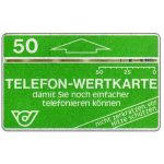 The Phonecard Shop: Austria, Definitive, 1,5 mm band, code A2, 'Damit sie noch...', no notch, 50 units